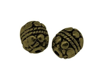 20pc 8x6.5mm antique bronze metal bead-6746