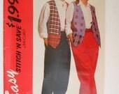 McCalls  Stitch'N Save Pattern 6079  Size B (M-L-XL) Vest and Pants Pattern