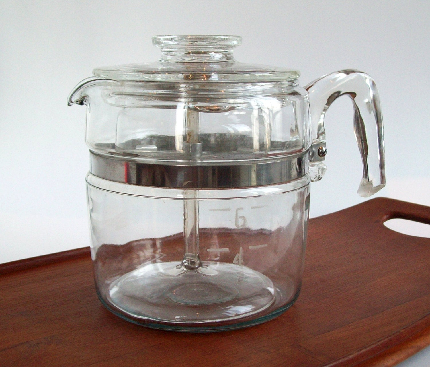 Pyrex Coffee Maker How To Use : Vintage Pyrex Percolator Coffee Pot 6 Cup Rangetop