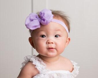 Newborn headband, Baby Headbands, You pick color, gray bow, Hairbow, Baby Bows, Head band, baby girl Headband, chevron headband