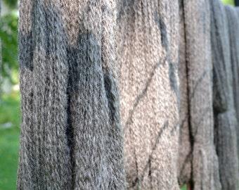 Natural Grey Romney 2-ply Sport Yarn, 1 skein, 215 yards