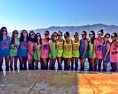 Custom Beach Tanks // Bachelorette party shirts neon // Personalized Bachelorette Tanks Sets