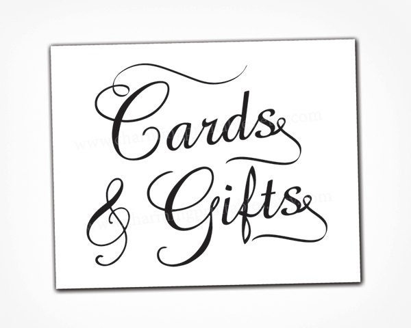 Tactueux image pertaining to cards and gifts sign printable