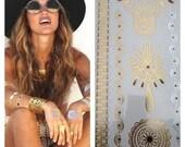 As Seen on Beyonce - Waterproof Metallic Jewelry Temporary Tattoos - Triangle Set