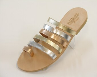 Fashionable Brown Leather Sandals