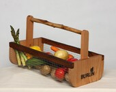 Garden Basket-Garden Harvesting Basket (BURLIN) / - Vegetable Basket,Hod,Picnic Basket, Storage Basket,Large Size