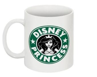 Disney Princess Starbucks Mug Ariel Little Mermaid 11oz. Made to Order