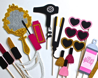 Beauty Photo Booth Props Makeup Collection Lots of Glitter