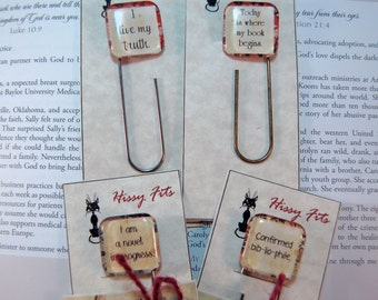 2 Custom Affirmation Paperclip Bookmarks Personalized Gift for Moms Teens Friends Book lovers bookmark