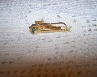Vintage Spartan saw tie clip gold mens tie clip vintage