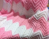 Hand crocheted baby afghan. Generous size by GRANDMA D.