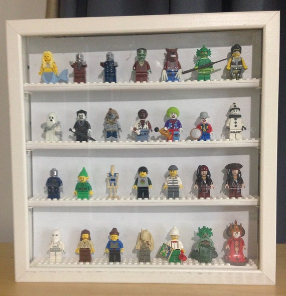figurines lego minifigures shadowbox affichage 28 cas avec du. Black Bedroom Furniture Sets. Home Design Ideas