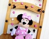 Minnie Mouse, Disney, Baby Minne, Birthday Felt Ball Garland, Pom Pom Garland, Nursery Decor, Bunting Banner, Party Decor, Baby Shower