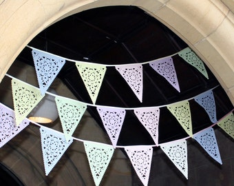Pastel wedding bunting, custom colours available
