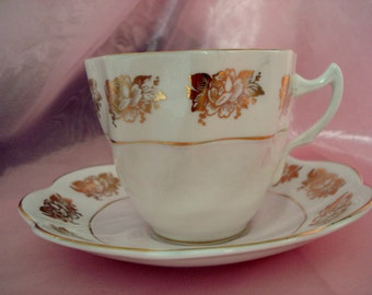 Vintage Pink Teacup Royal Crownford Tea Cup Bone China England Pink Shabby Cottage Vintage