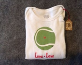 Tennis Ball Love Love Infant Bodysuit - Choose size from below