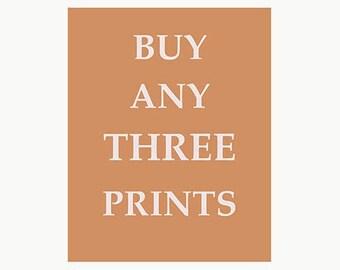Buy Any Three Prints 8 X 10 from Happy Home Decor Prints