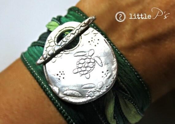 Sea Turtle Jewelry Save The Sea Turtles Artisan Silk Wrap
