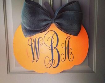 Wooden Pumpkin Door Hanger