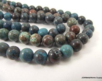 Blue Sky Jasper Round Beads, 8mm, 16 Inch Strand, Whole Strand