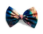 Green Galaxy Printed Hair Bow