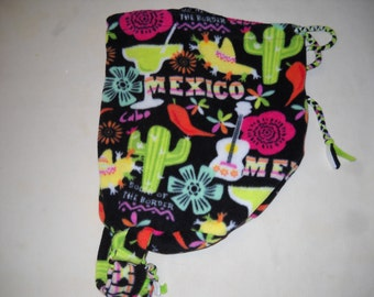 LARGE One-Strap BACKPACK with MEXICAN theme print all over it.