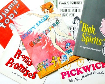 Vintage Theatre Programs, 1960's, Stage, Ephemera, Souvenir, Broadway Play, Musicals