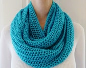 Turquoise Infinity Scarf - Circle Scarf - Ready to Ship