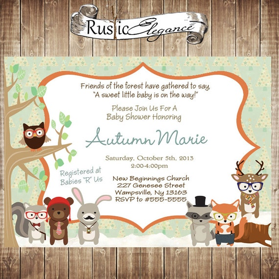 Woodland Themed Birthday Invitations for best invitation design