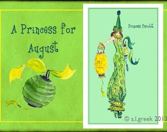 "Princess Peridot fashion illustration-Greeting Card (5.5""x8"")"