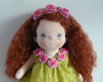 Lobke, a Soft Cloth Doll, to play and cuddle with