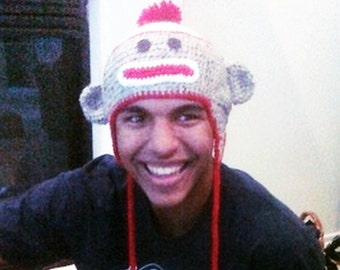 Sock Monkey Hats for Teens and Adults