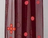 Elibelindeart/Dotted Shawl/SPECIAL DESIGN tulle shawl/Shawl/Shawl store/Claret red/Red/Unique shawl/Wedding/Bride/Emriodered shaw/Lace shawl
