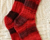 Hand knit acrylic women's socks