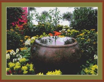 Water Pot Cross Stitch Pattern