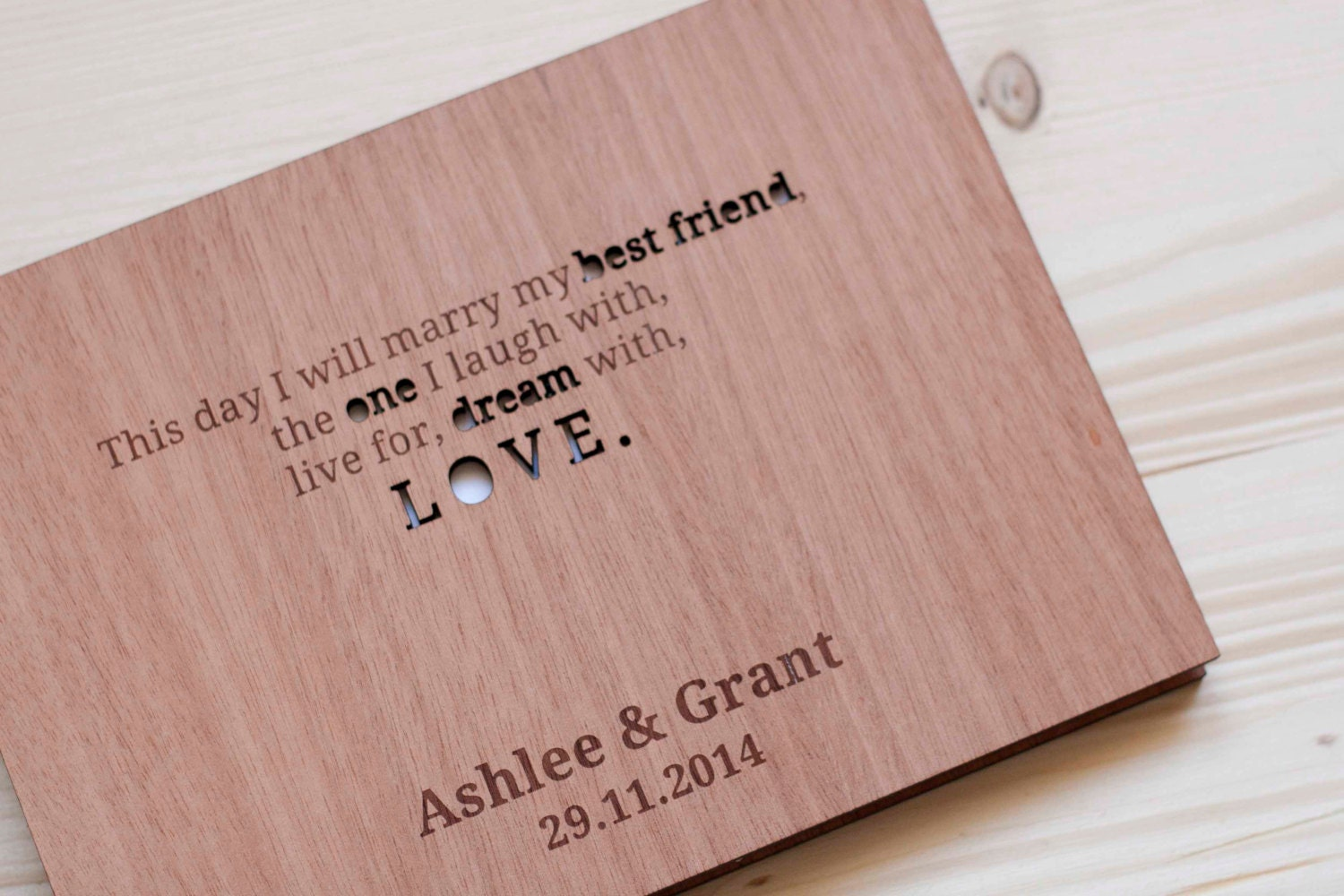 Wedding Guest Book Wedding Guestbook Custom Guest Book Rustic ...