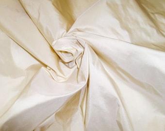 SCALAMANDRE SOTTO VOCE Silk Taffeta Fabric 10 yards Cream