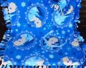Elsa Frozen Fleece Throw Blanket with Fringe