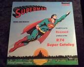 SALE Rare 1973 Superman Vinyl Record Album Original Radio Broadcast Mark 56 Golden age 1930s
