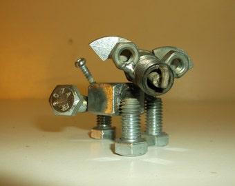 Dog Metal Recycled Art Spark Plug Dog