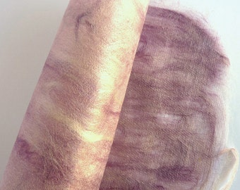 Craft Paper - Silk Fusion - Hand Made Silk Paper - Collage - Pink Lavender