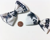 Dallas Cowboys Bow Set, Dallas Cowboy Bows, Texas, Football, Hairbows, cheer bows, Texas Football Teams, Pigtail Bows, Gifts for her, sports
