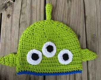 Toy Story Alien Crocheted Hat