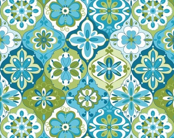 SPLENDOR - Ceramic Blue - 1/2 YARD - C3913 - Riley Blake - Lila Tueller