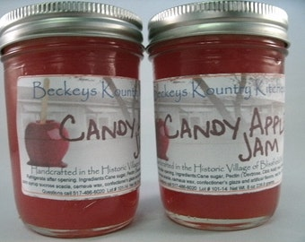 Two Jars Candy Apple jelly homemade jam fruit spread handmader fruit preserves