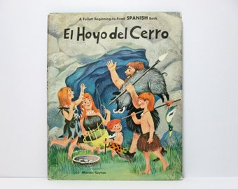 El Hoyo del Cerro (The Hole in the Hill) by Marion Seyton 1984 Vintage SPANISH Language Children's Book About a Family of Cavemen