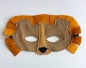CHILD Felt Lion mask Halloween costume Photography prop