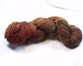 Hand Dyed BFL Sock Yarn in Mysterious Monster Meeting