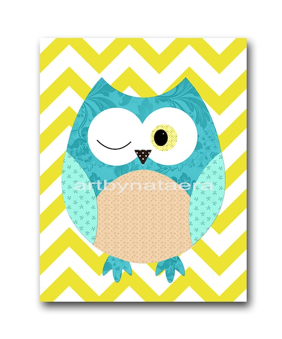 owl decor owls nursery kids wall art baby boy nursery print. Black Bedroom Furniture Sets. Home Design Ideas