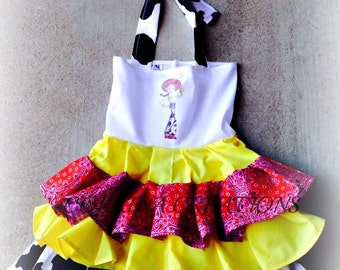 OTT, Pageant Wear,Western, Jesse, Toy Story Boutique Style size Ruffle dress 6, 12 24 months, size 2 3 4 5T